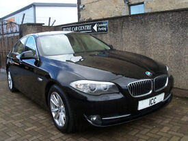 10 10 REG BMW 520D SE TURBO DIESEL 4DR NEWSHAPE BLACK FULL LEATHER LOW ROADTAX