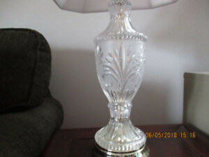 1 PAIR OF GLASS LAMPS FOR SALE