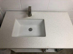 "Brand New 39"" Quartz Vanity With Undermount Sink."