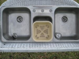 Stainless Steel Triple Kitchen Sink (MINT Condition)