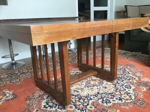 Table and 4 chairs mid century - teak look