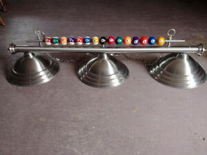 Pool Room Lights, Cues and other Mancave Decor for Sale