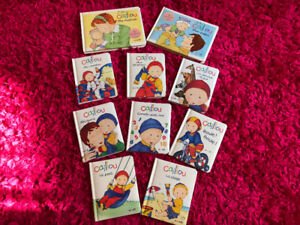 CAILLOU hard cover books  collection/$2 each