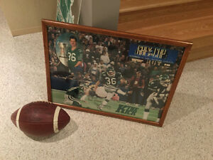 1989 Saskatchewan Roughrider Signed Ridgway Picture