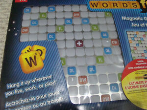 NEW WORDS WITH FRIENDS MAGNETIC GAME & MESSAGE BOARD GAMES 13+ Regina Regina Area image 3