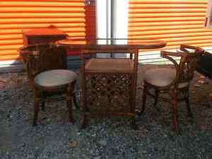 Beautiful wicker table set