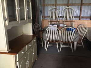10 piece country kitchen / dining room set, solid wood,