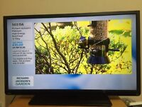 """40"""" TOSHIBA LED TV SLIMLINE FULL HD USB 100Hz BUILT IN FREEVIEW CAN DELIVER"""