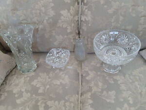 lot of crystal and    vase  $50