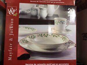 Christmas dishes 3 sets x 20 piece