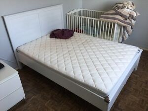 IKEA double size bed and mattress