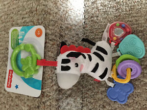 New! Fisher Price zebra funny feet activity pal Reduced! Kitchener / Waterloo Kitchener Area image 1