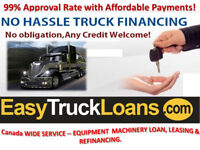 TRUCK LOANS -BE AN OWNER OPERATOR; MAKE MORE MONEY
