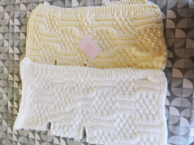 Hand knitted baby items