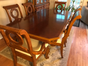 Elegant Dining Room Table and China Cabinet -  Lower price