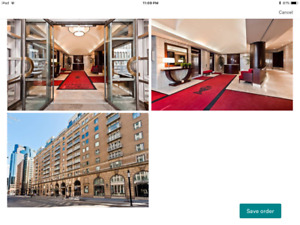 Downtown furnished  / centre ville meubles