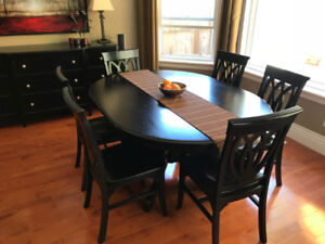 Dining Room Table + 8 Chairs + 4 Bar Chairs
