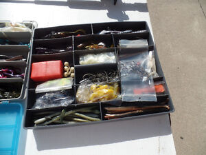 SHIMANO FLIPPING STICK AND TACKLE BOX OF BASS PLASTICS Windsor Region Ontario image 7