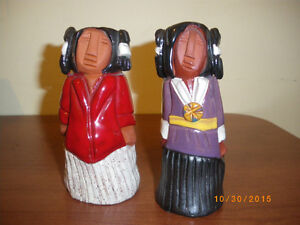 Canadian Native Aboriginal Clay Sculptures / Figurines by KEENA