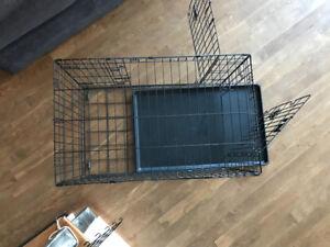 Cage pour chien- utilisée 6 mois