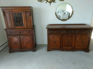 Various furniture pieces (couches) (loveseat)(cabinets)