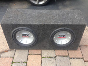"2x 10"" MTX Audio Dual Subwoofers"