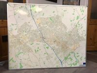 Wall Map for Luton, Dunstable and surrounding villages.