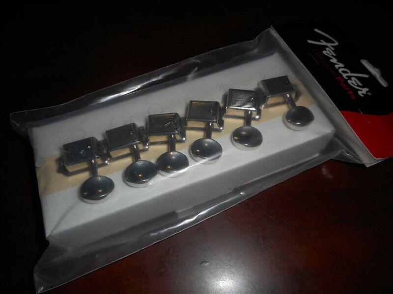 NEW Fender Vintage Style Tuning Keys For Strat/Tele - CHROME, #004-7912-049