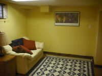 Furnished newly renovated basement apartment