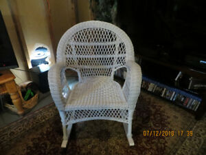 White Wicker Rocking Chair from PIER 1