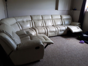 Leather Sectional couch