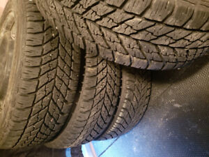 205 55 16 Goodyear Ultragrip Winter Tires on rims