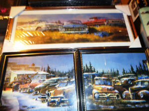 Framed Pictures 1959-64 Chevy,s Pepsi Cola Cooler 49-56 Fords