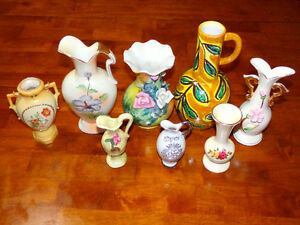 Collection of vintage small decorative vases