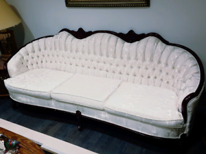 white vintage couch. 3 Piece White Vintage Couch Set R
