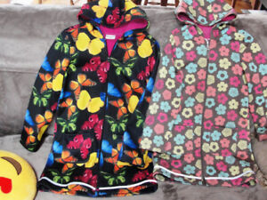 Girls spring jacket (2), sizes 8-10 and 10-12