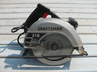 Craftsman skil saw works well $17