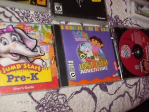 3 CHILDENS PC GAMES   TWO DORAS AND  JUMPSTART
