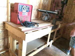 Press Drill Compresseur Soudeuse Scie Radiale Bancde scie+