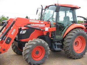 Kubota M7040 Tractor Cab Loader 557 Hrs