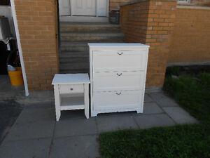 white dresser & night stand