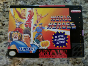 World Heroes CIB - Super Nintendo - SNES