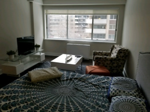 Large Studio Apartment in Downtown Montreal (All Inclusive)