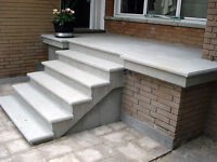Concrete Balcony stairs and walk way
