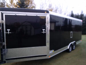 enclosed car hauler trailer-side by-cargo-extra height-2018-25ft