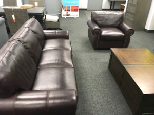 Brand New Leather Sofa, Loveseat And Chair