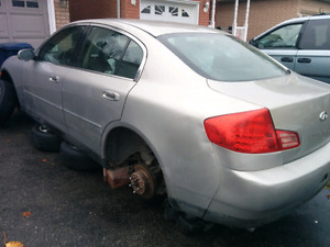 2004 Infiniti G35x Sedan PARTS ONLY FOR SALE  (289) 812-2464