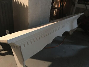 White shelf or fireplace mantel