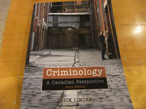 Criminology; a Canadian Perspective by Linden 6th edition