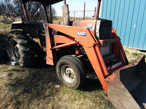 290 Massey 4cyl Perkins with quick attach loader